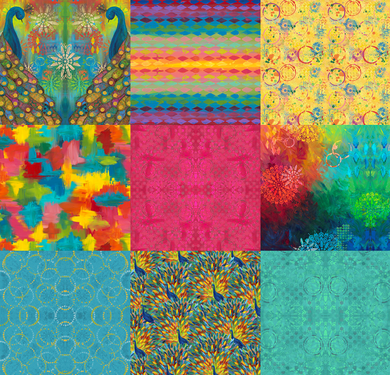 Pizzazz - One Panel and 8 Fat Quarters