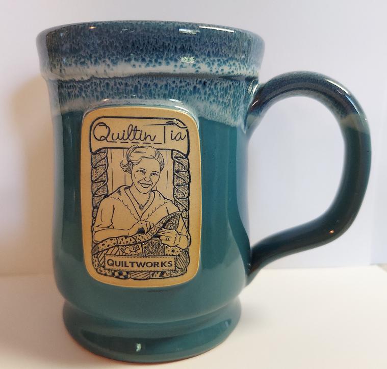 Quiltin' Tia Hand Thrown Mug - Peacock