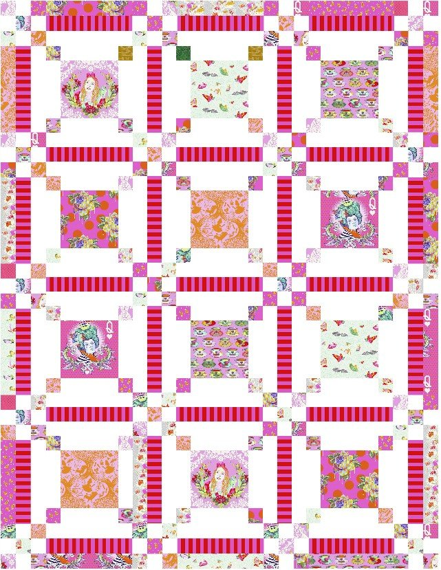 Curiouser and Curiouser - Dapper and Dressed Wonder Quilt Kit