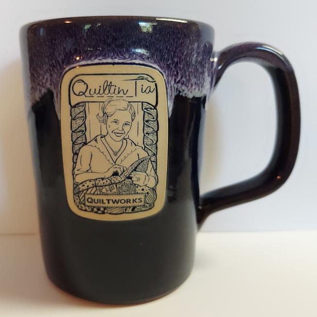 Quiltin' Tia Hand Thrown Mug - Purple