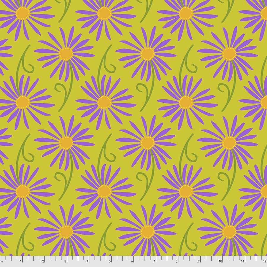 Sassy Summer Salsa - Small Dancing Daisies - Green