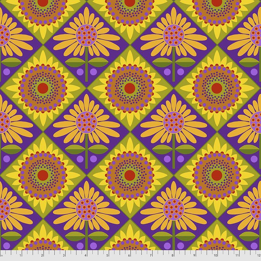 Sassy Summer Salsa - Mexican Tiles - Purple