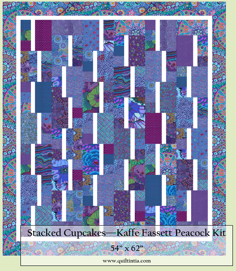 Kaffe Fassett Peacock - Stacked Cupcakes Kit