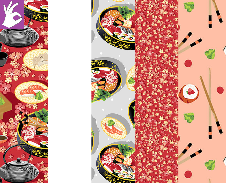 Soho Sushi - Five Yard Fabric Bundle - FREE A-OK Pattern with Purchase