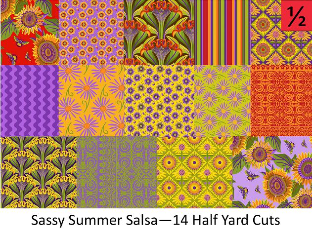 Sassy Summer Salsa - 14 Half Yard Cuts