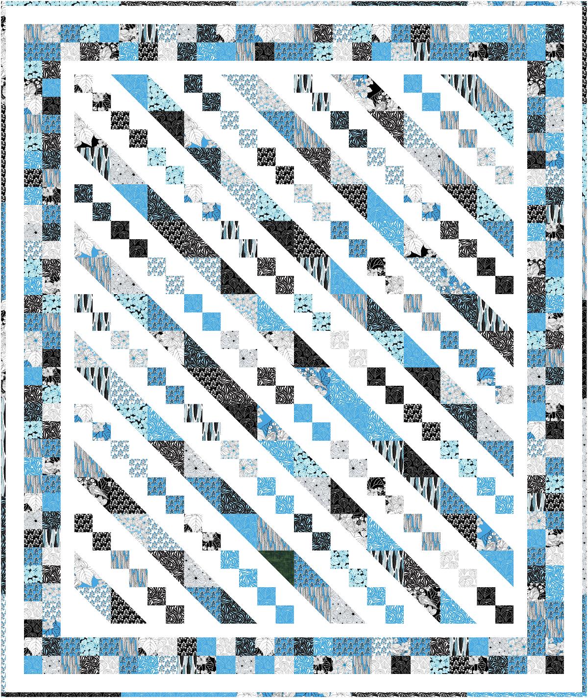 Ivory Woods -  Steps and Slides Quilt Kit - 63 x 75