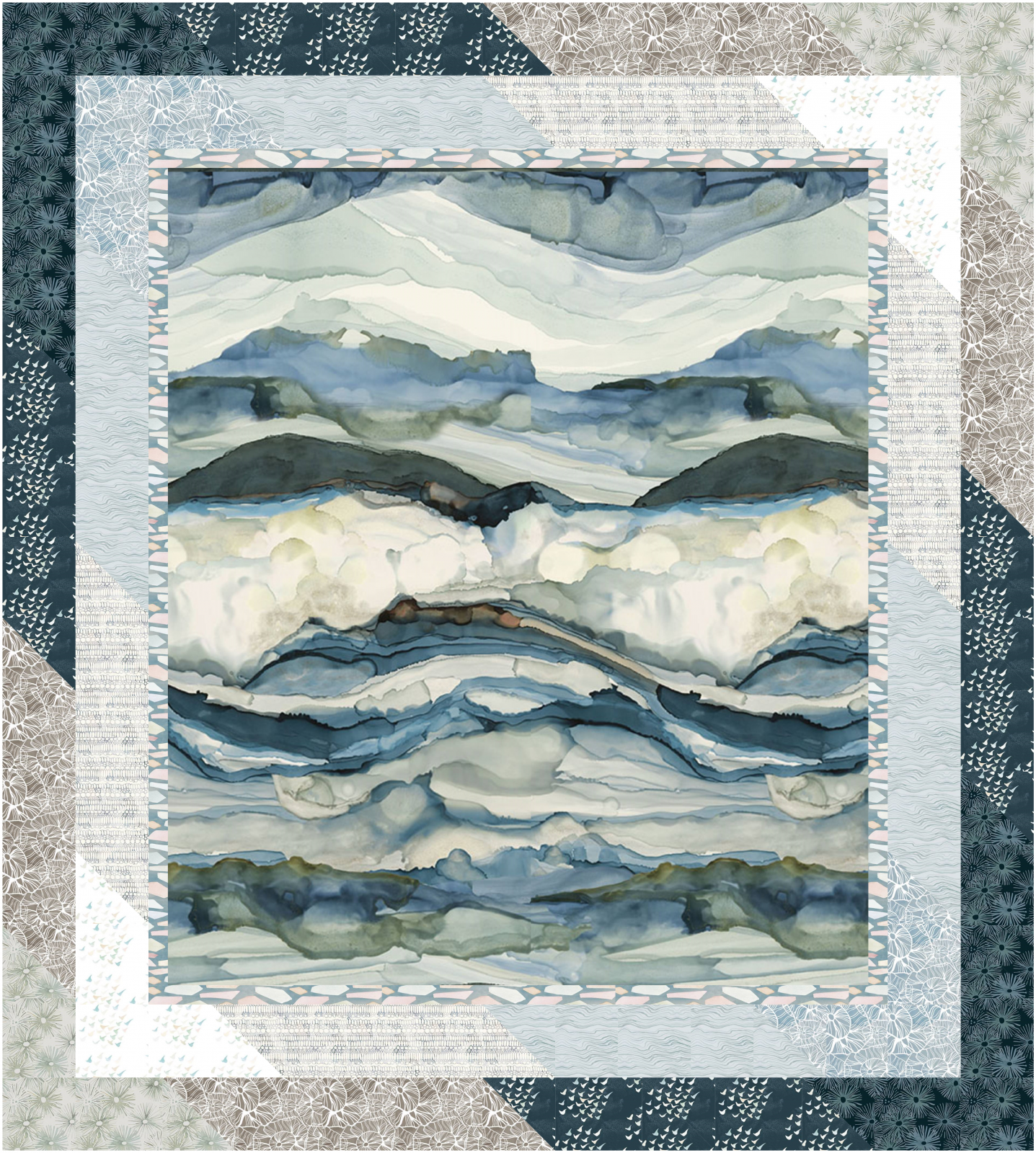 Gallery Drama - Time and Tide - Quilt Kit