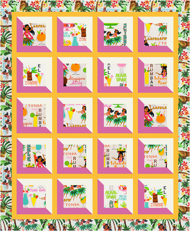 Hawaiian Viewed Quilt Kit