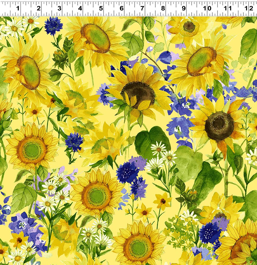 Sunny Fields - Mixed Floral Yellow