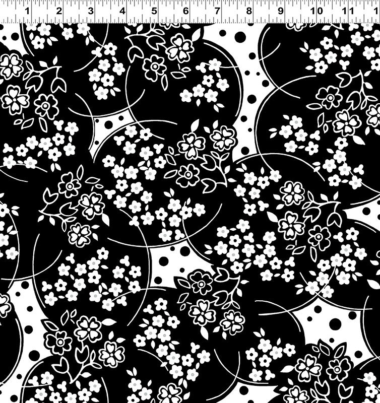 Ruby Night - Floral Delight - Black