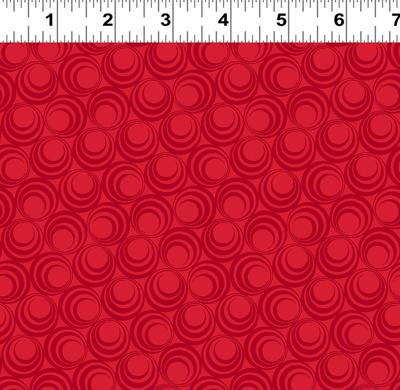 Ruby Night - Concentric Circles - Light Red