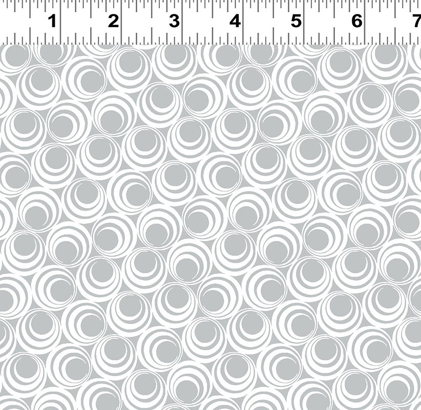 Ruby Night - Concentric Circles - Light Gray