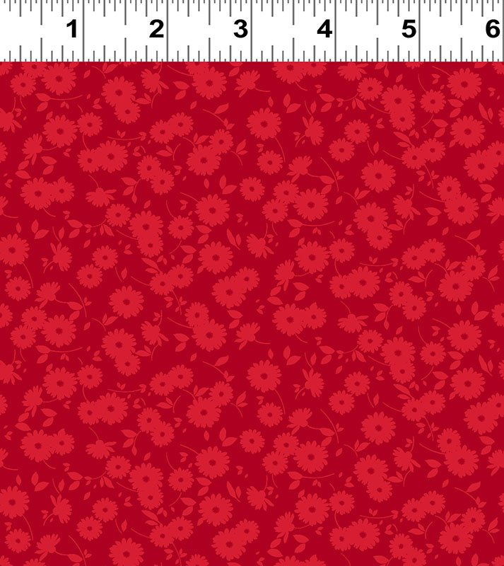 Ruby Night - Dainty Floral - Red