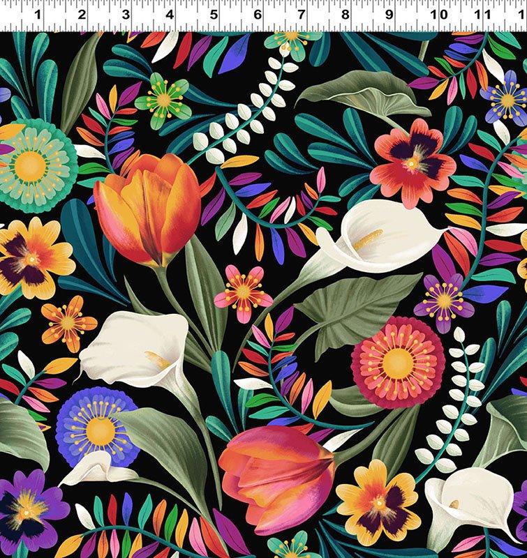 Colorido Festive Floral Black