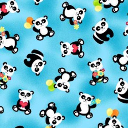 Panda-Monium Flannel f1166-16