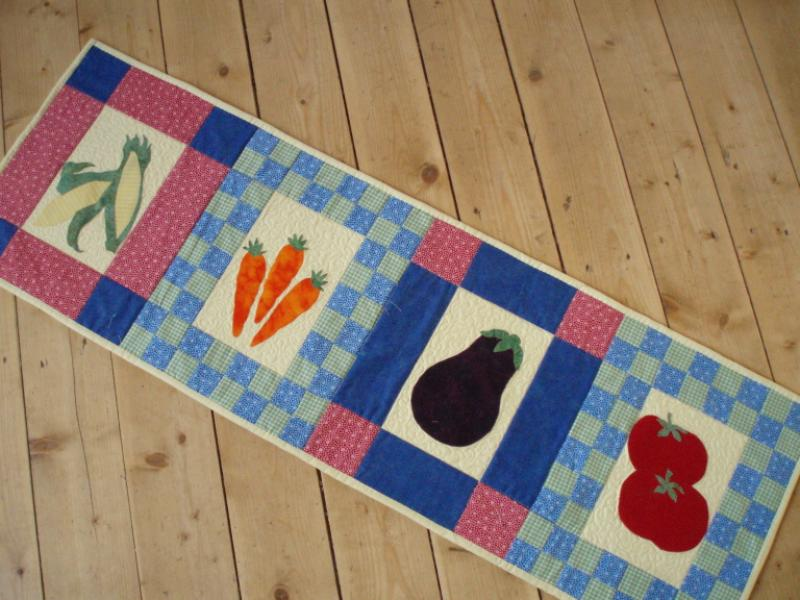 Garden Veggies Table Runner