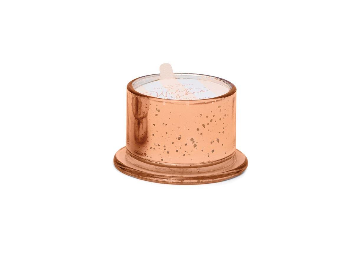 TINSEL 4.5 OZ BRONZE MERCURY GLASS 'WARM WISHES' - WHITE PUMPKIN LATTE