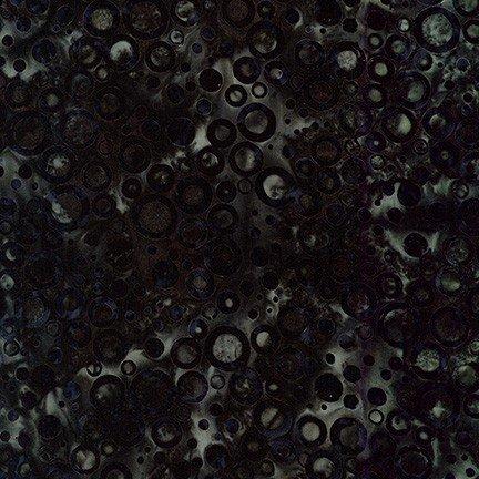 FQ Rings and Dots Batik - Charcoal
