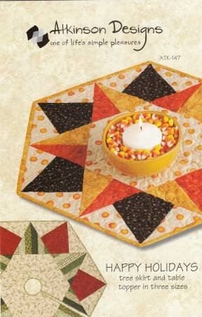 Happy Holidays Tree Skirt & Table topper
