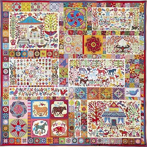 Pandemonium Applique Quilt Pattern by Kim McLean
