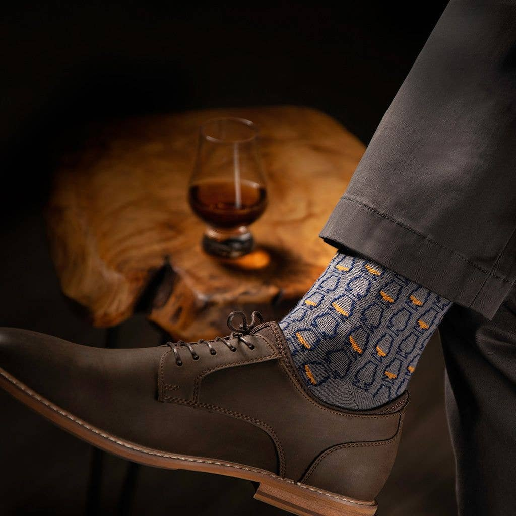 Bourbon Cousins Glencairn Whiskey Glass Sock