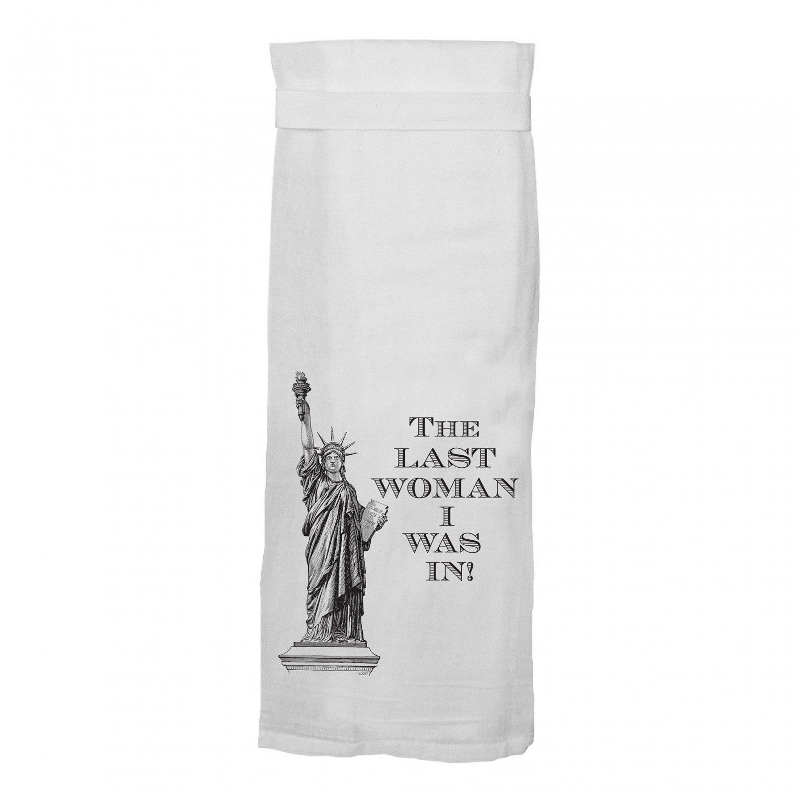 Twisted Wares The Last Woman Tea Towel