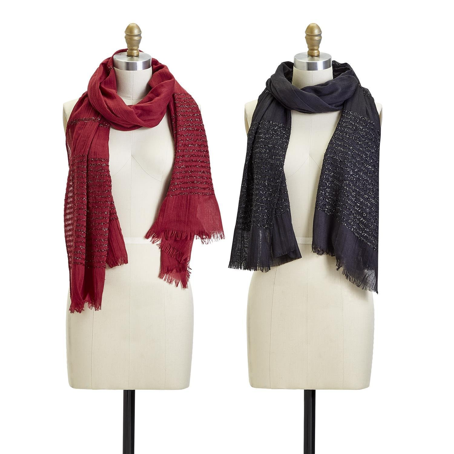 Two's Company Crystal Fringe Scarf