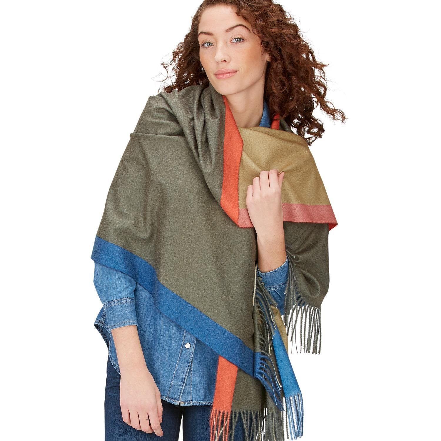 Two's Company Multicolor Scarf with Fringe