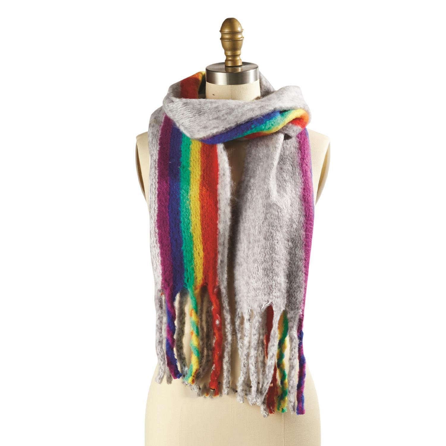 Two's Company Rainbow Scarf