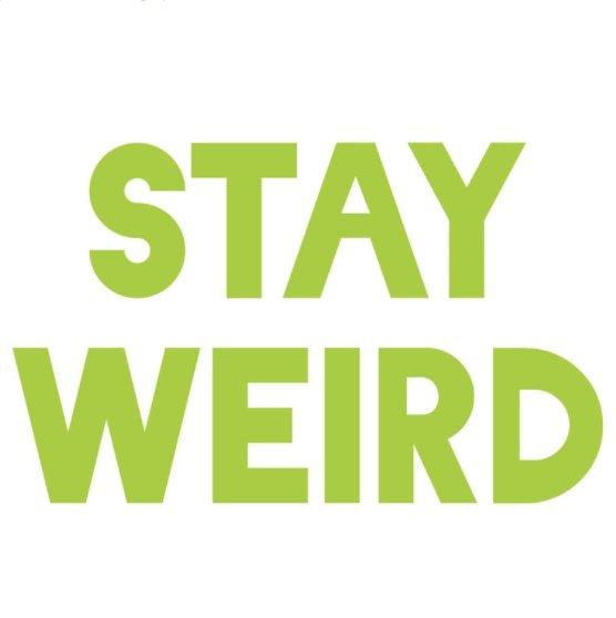 Stay Weird Vinyl Decal