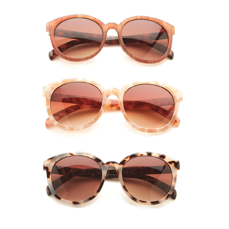 Two's Company Mixed Pattern Sunglasses