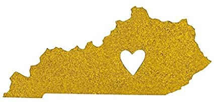 About Face Gold Glitter Kentucky Magnet