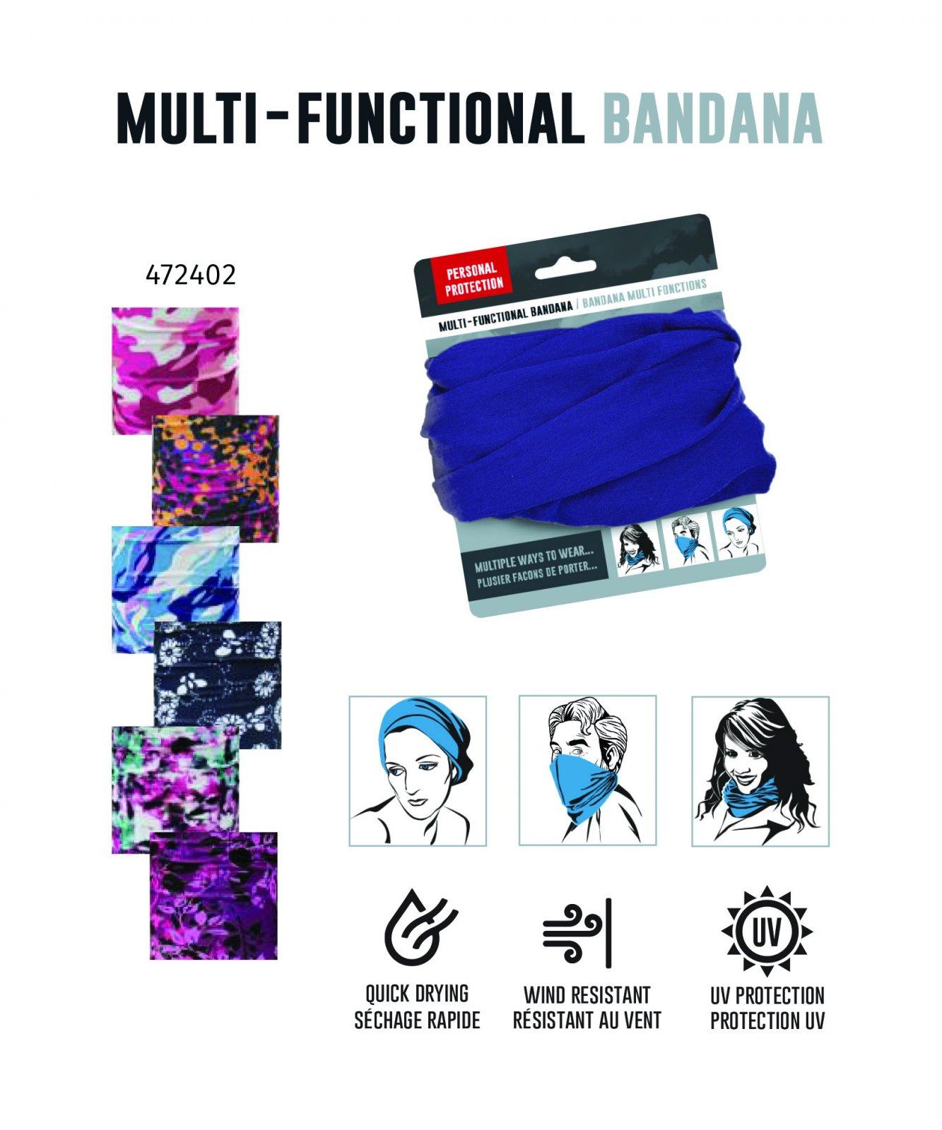 Multi-Functional Bandana - Multi Color