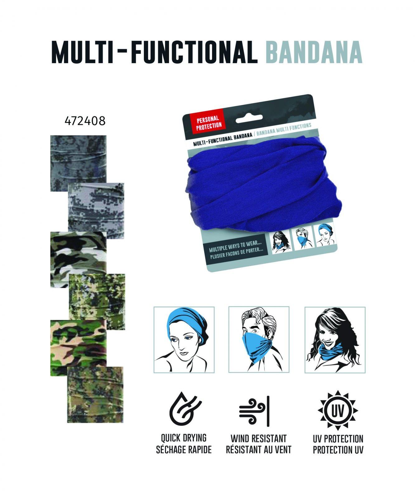 Multi-Functional Bandana - Camo