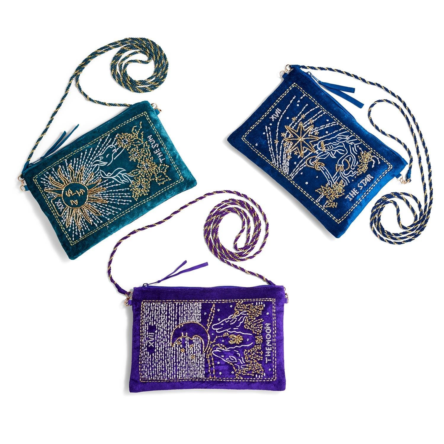 Two's Company Tarot Crushed Velvet Bag