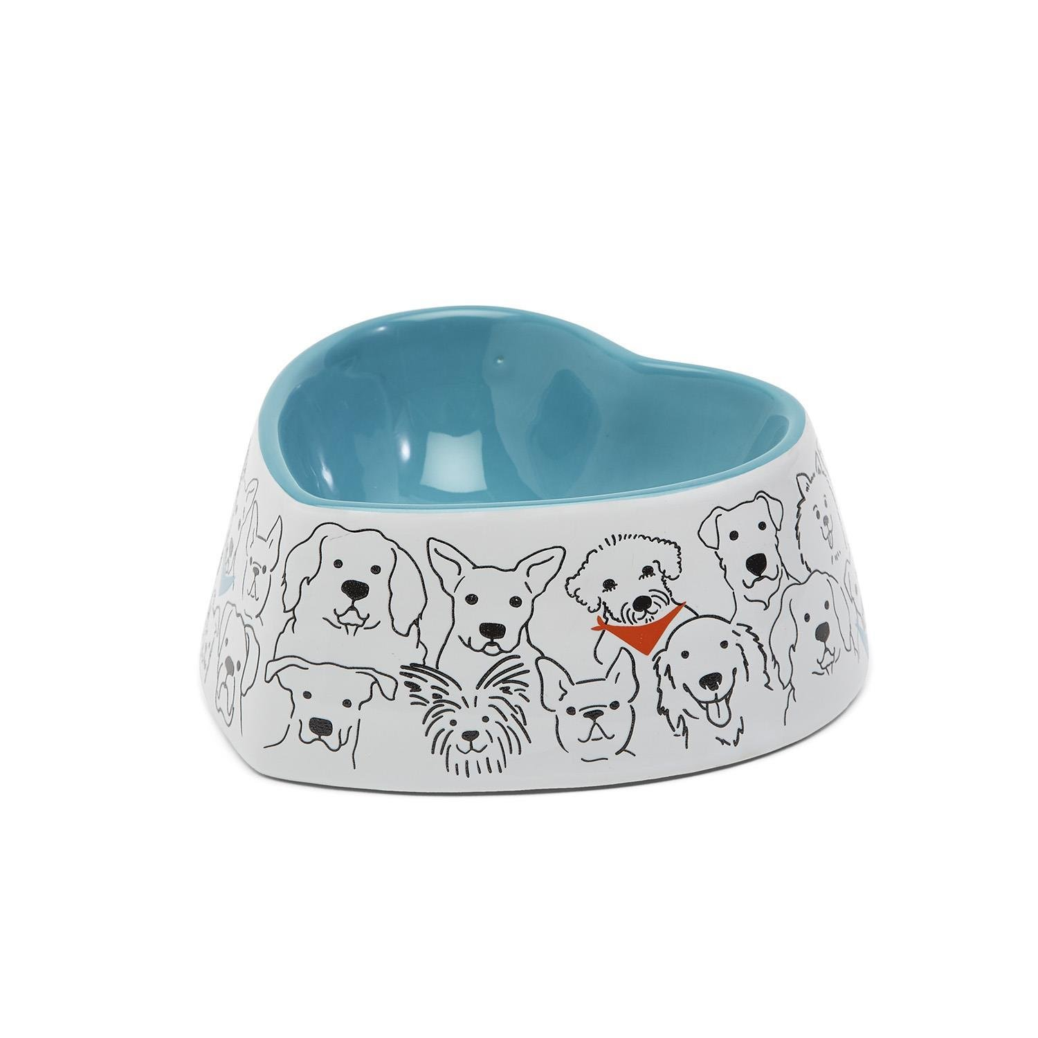 Two's Company Woof It Down Dog Bowl