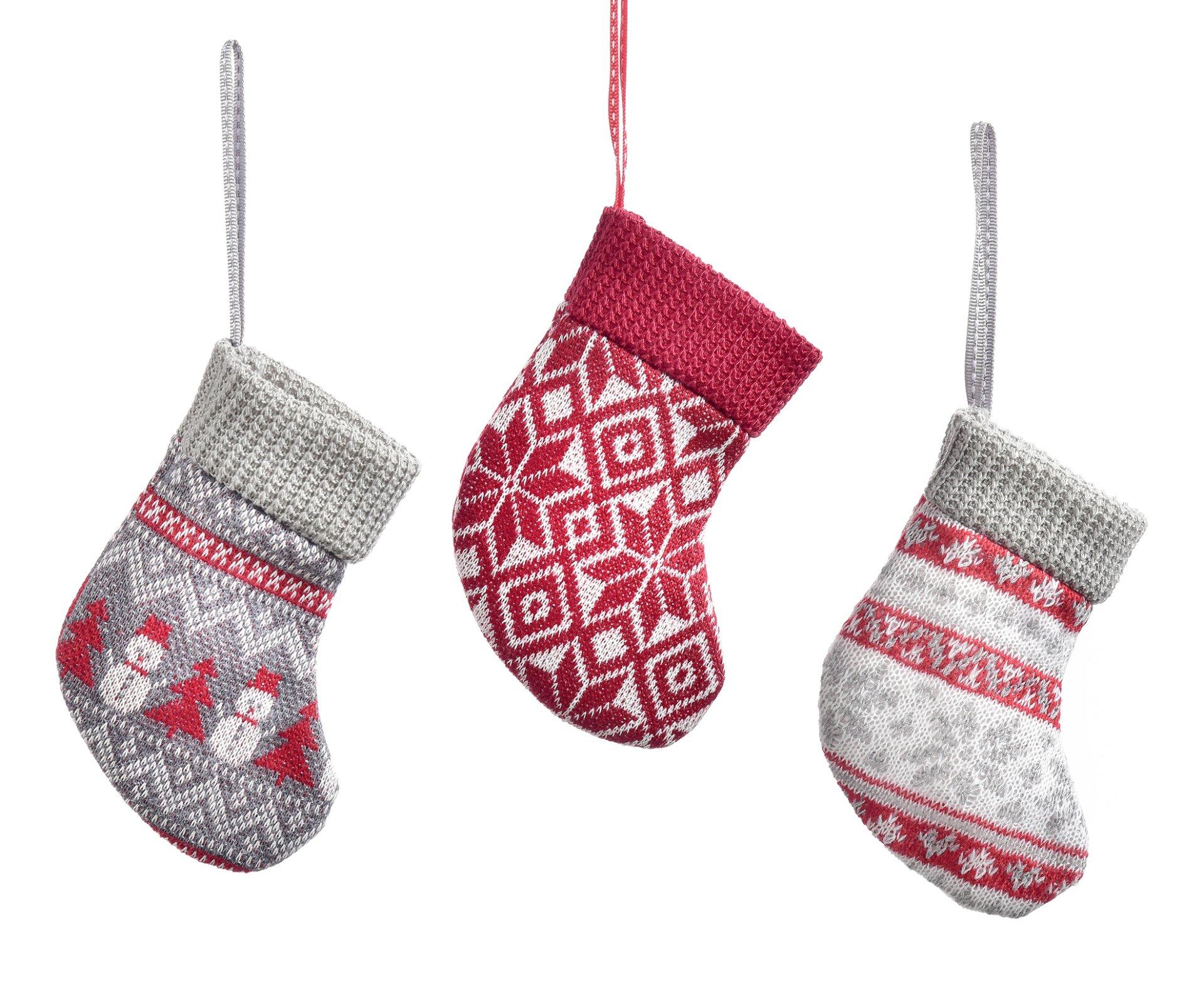 Knit Sock Ornament
