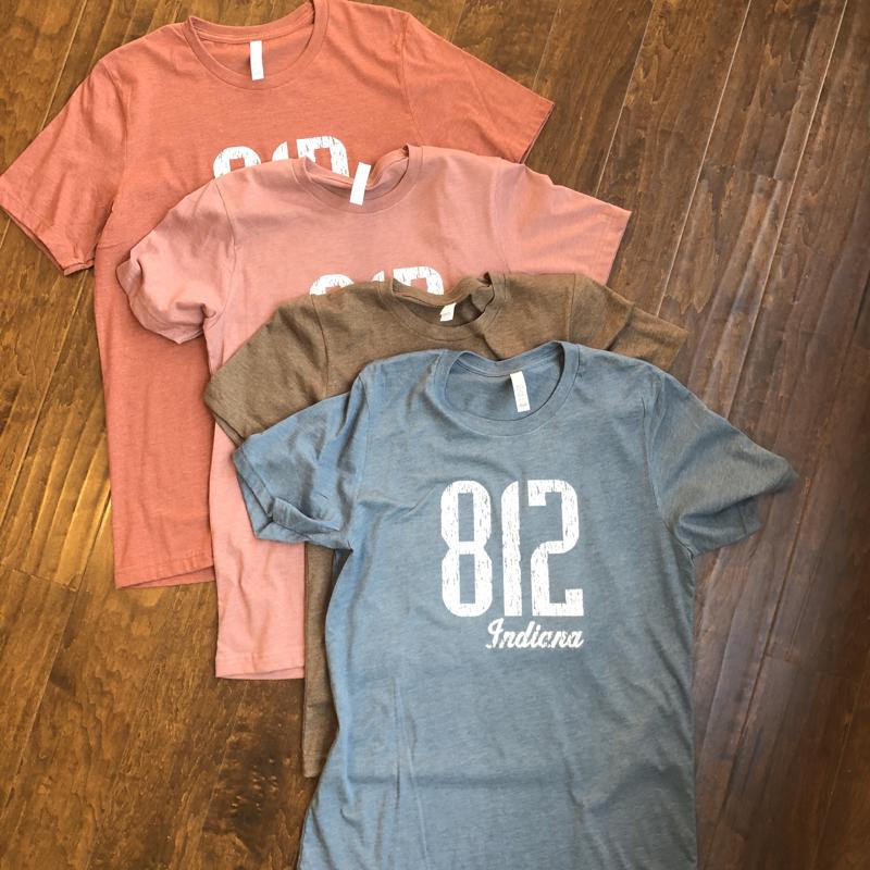 812 Indiana T-Shirt (Brown Triblend)