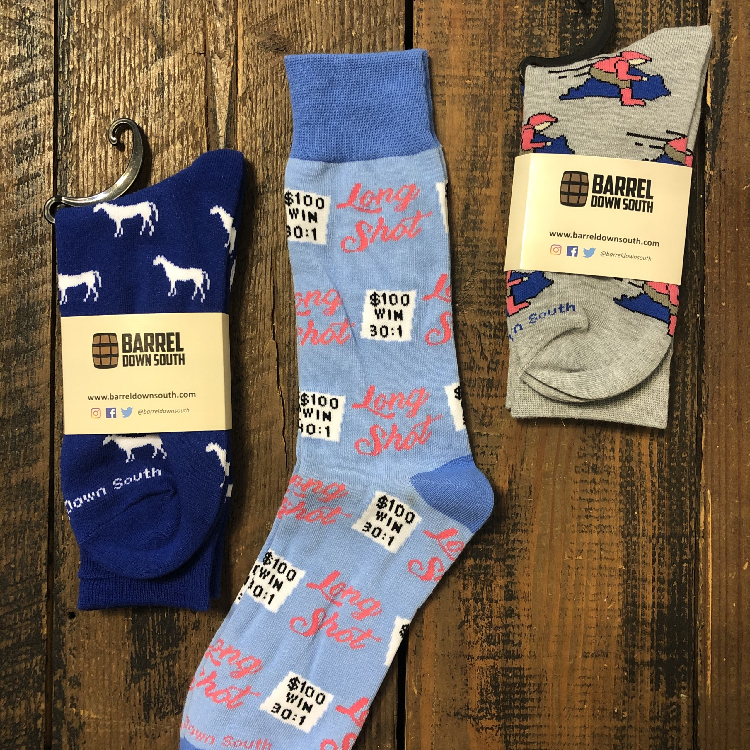 Barrel Down South Derby Day Socks