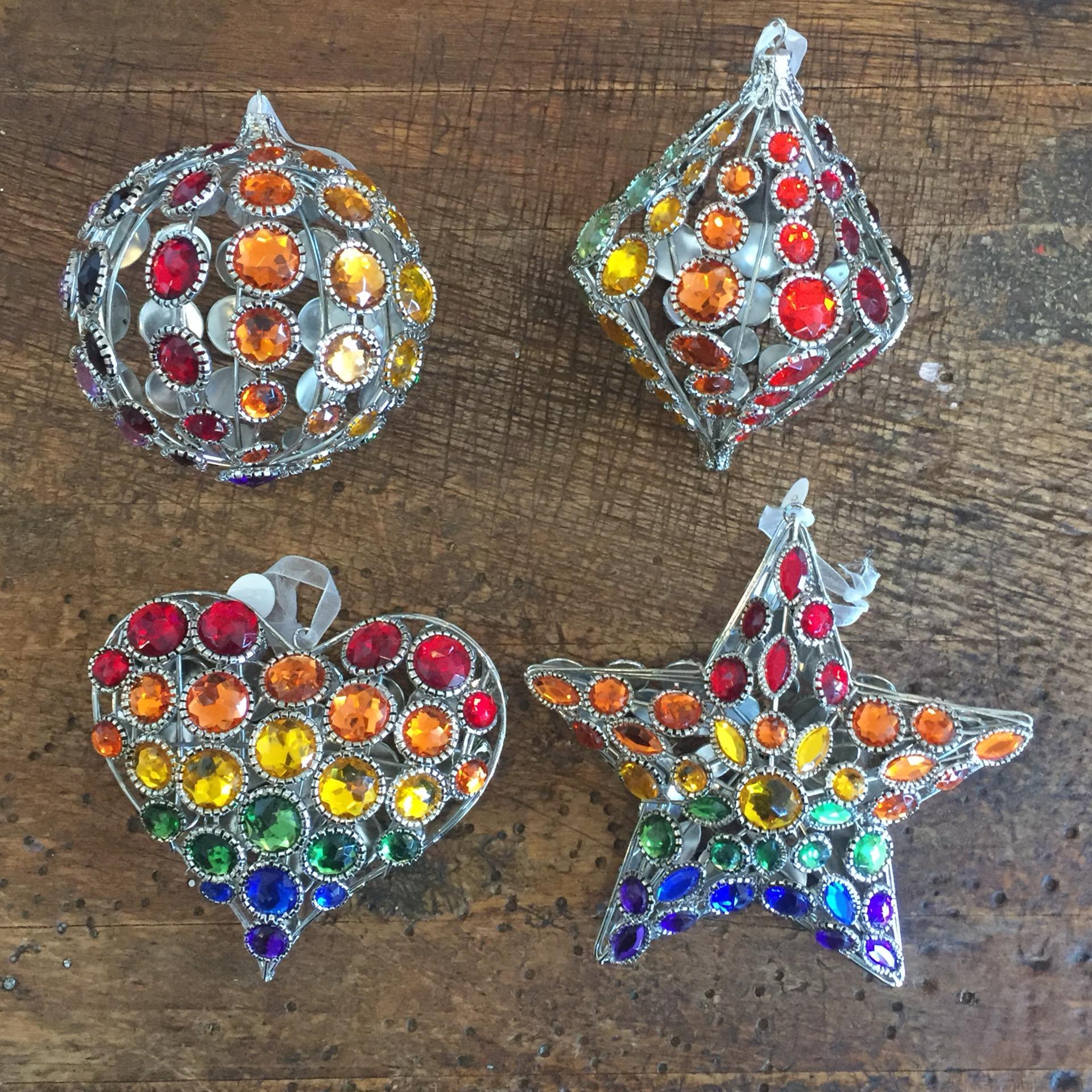Jeweled Ornament (Heart, Star, Diamond, Circle)