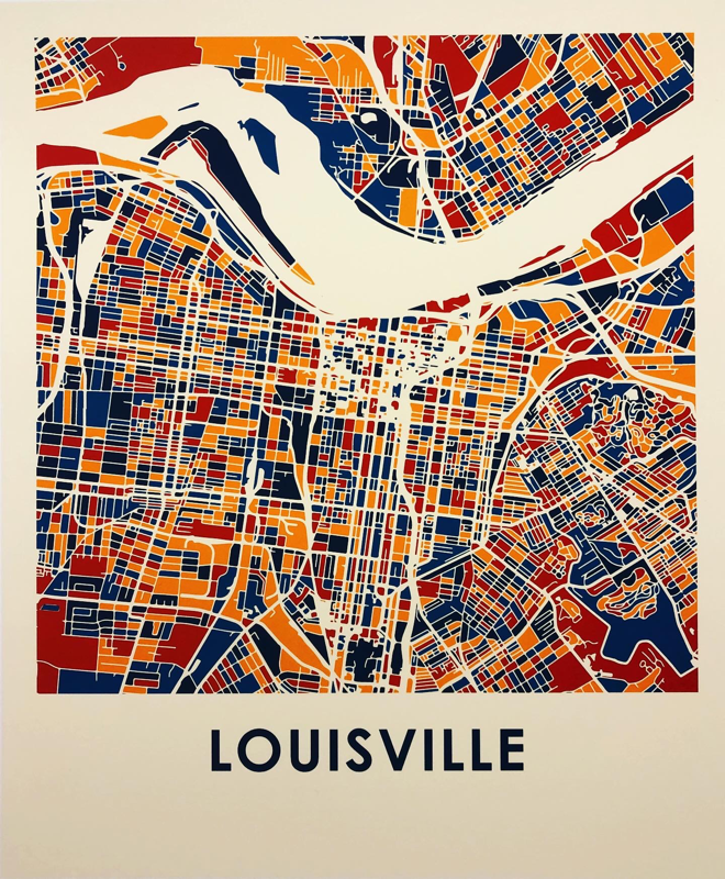 LOUISVILLE Map by Olivier Gratton-Gagn