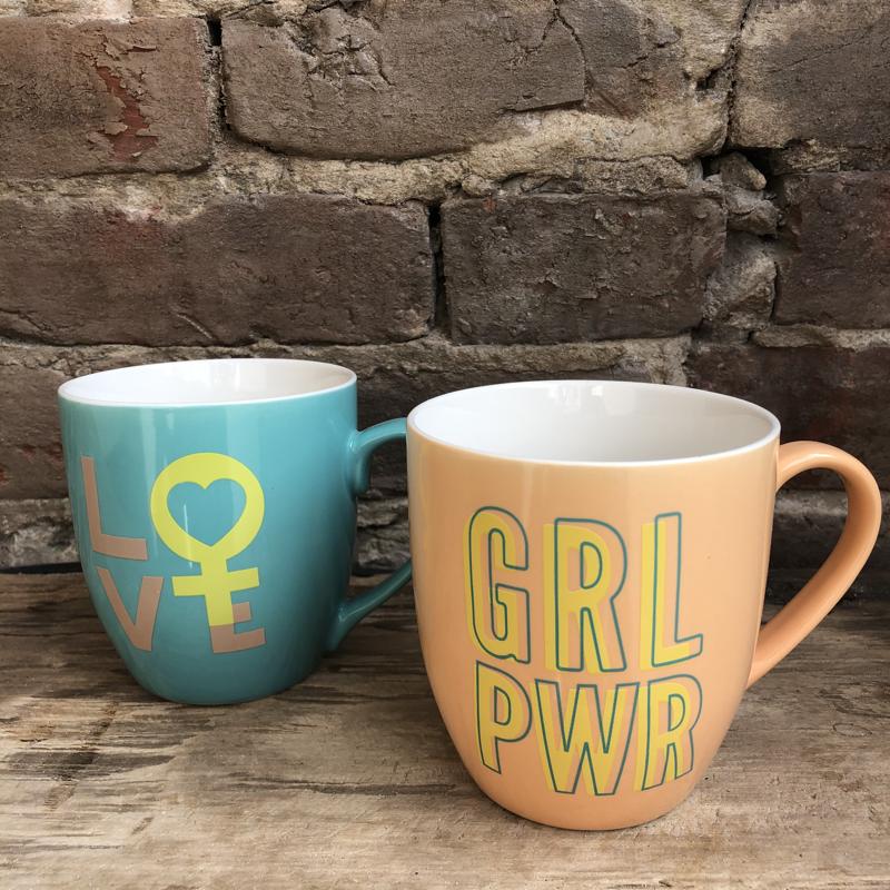 Love and Grl Pwr Mug