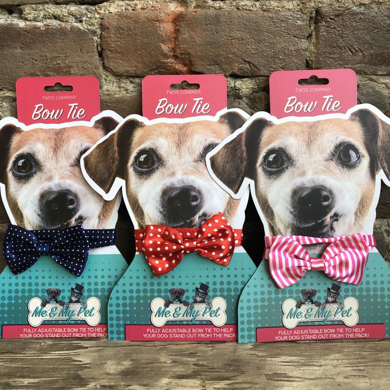 Pet Bow Tie (Pink Stripe, Red Polka, Blue Polka)