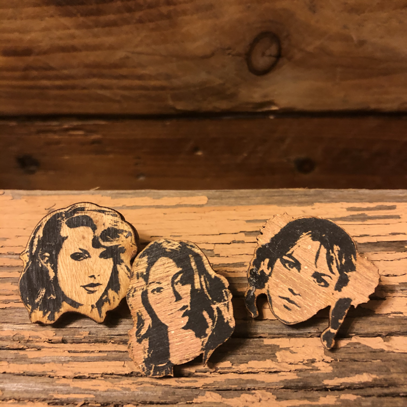 Queens Part 2 Taylor, Beyonce, Britney Wooden Pin