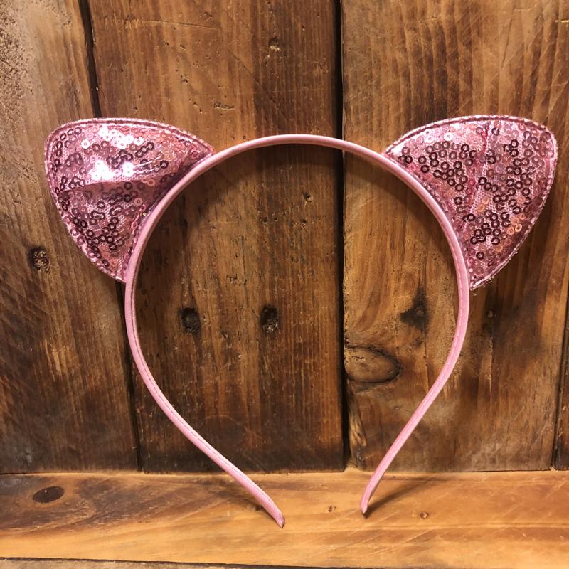 Sequined Cat Ear Headband
