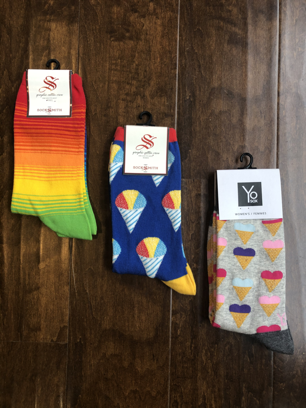 Socksmith Socks Yo Sox - Women's (Rainbow Stripe, Snow Cone, Snow Cone Heart)