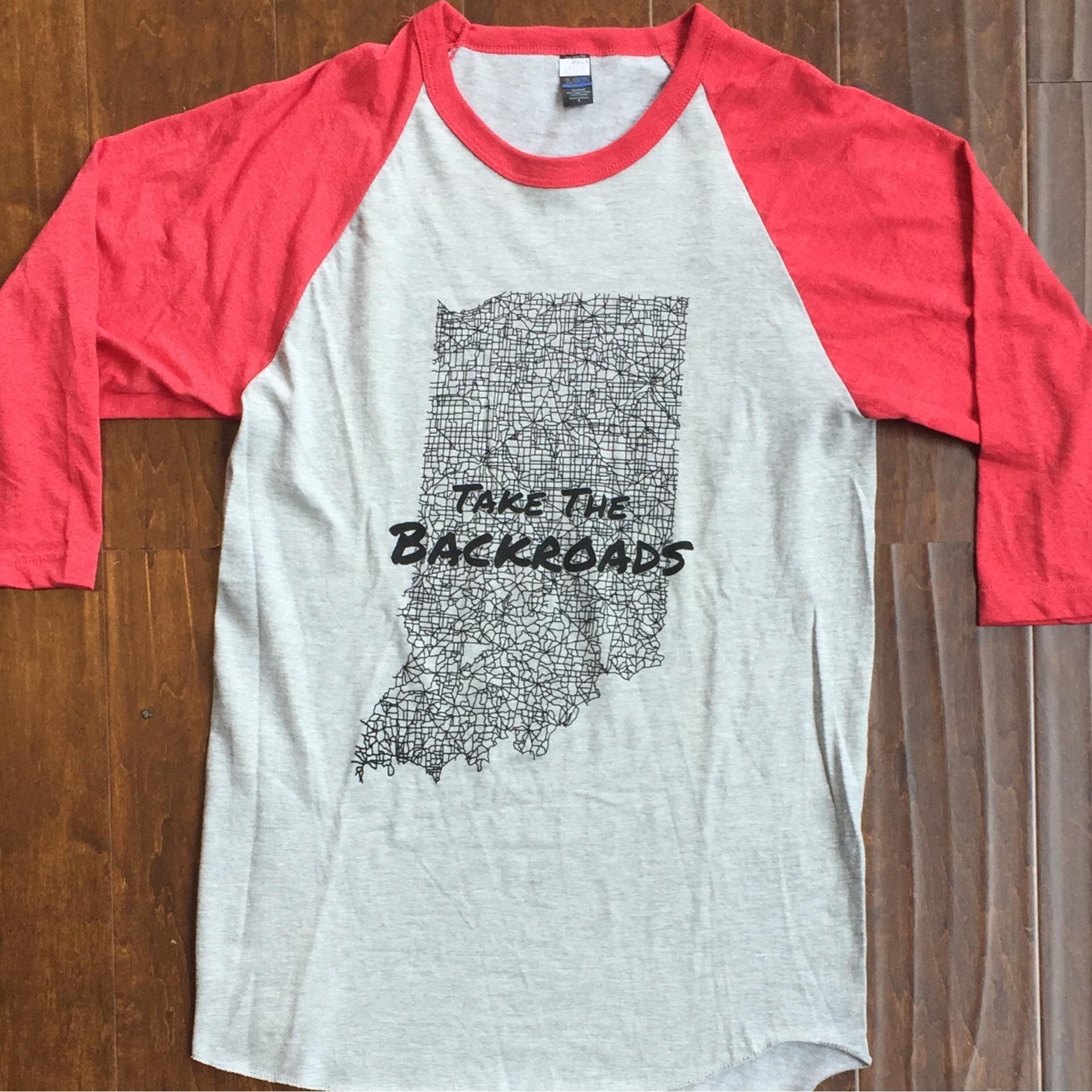 Take The Backroads Baseball Tee OGD55