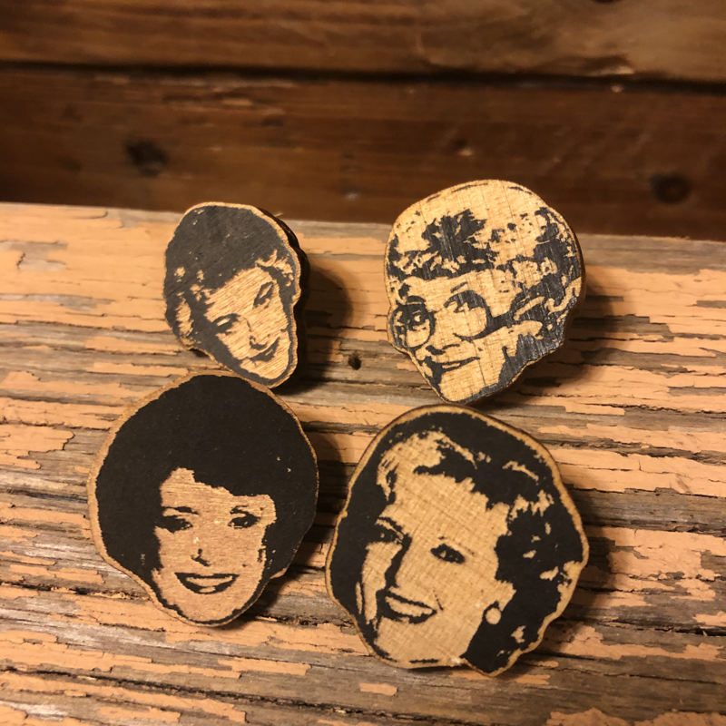 The Golden Girls Wooden Pin