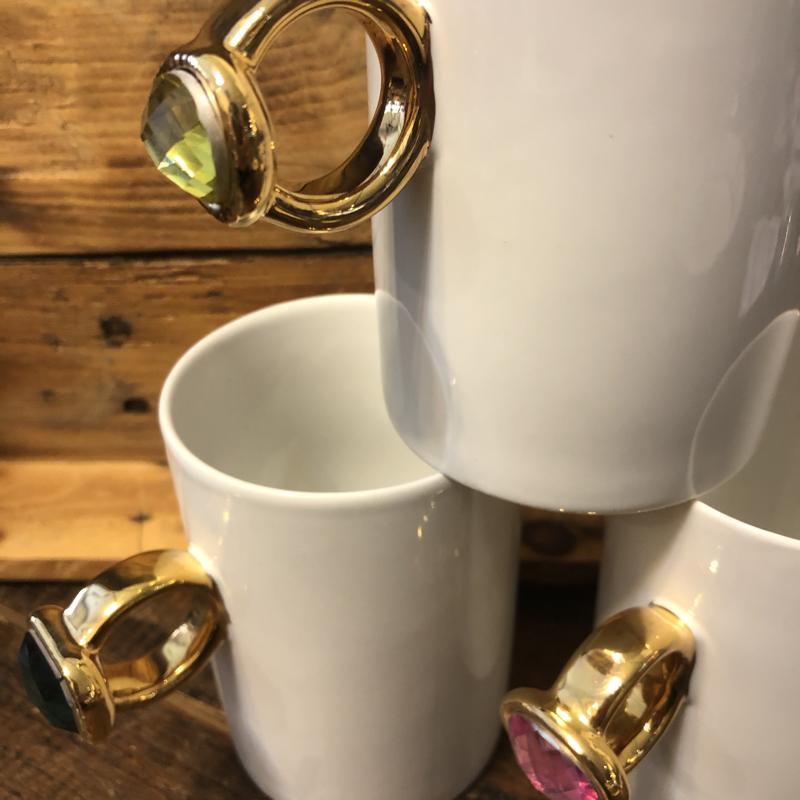 Two's Company Glam Bling Ring Mug