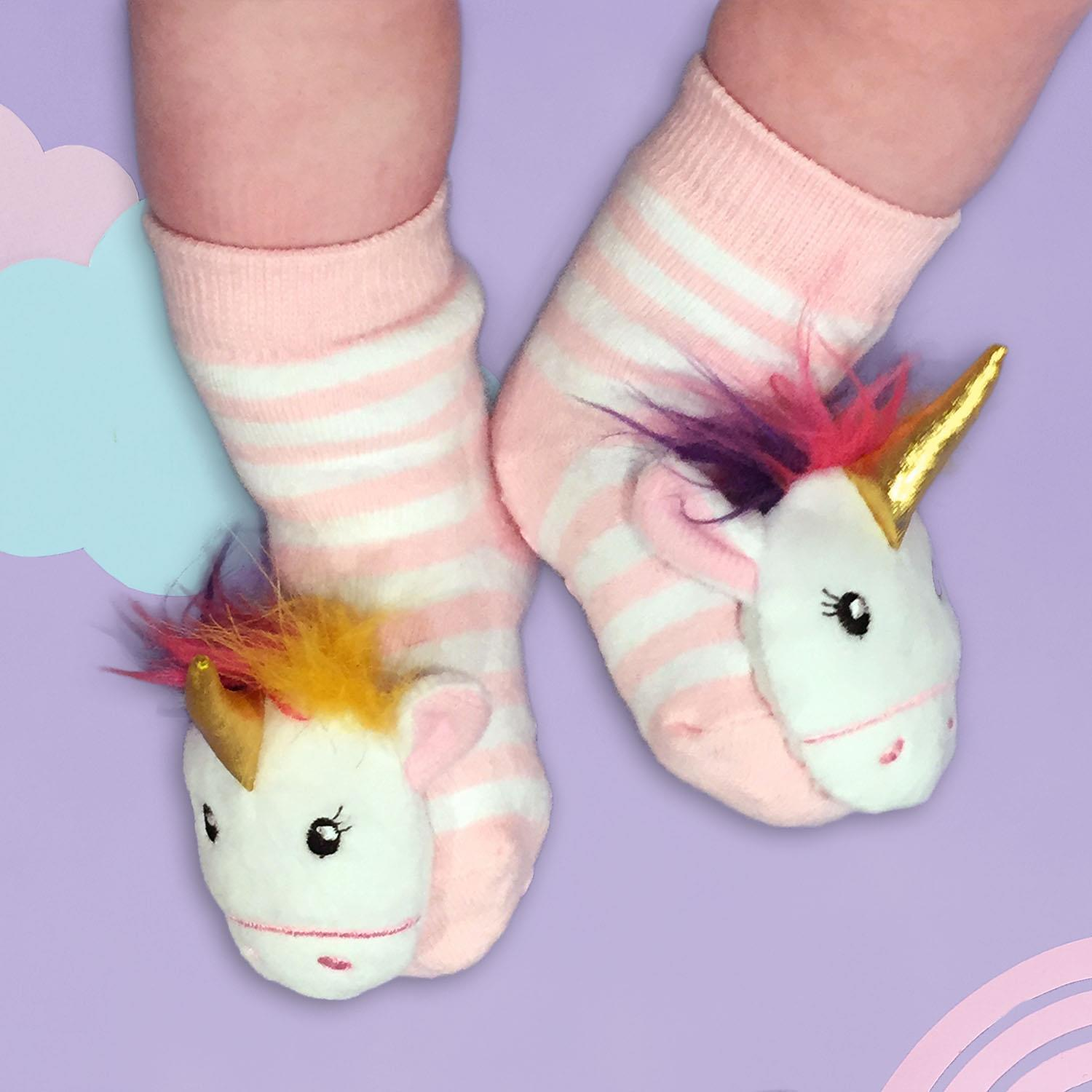 Two's Company Infant Rattle Socks Unicorn
